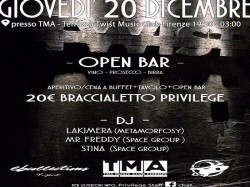 20 Dicembre PRIVILEGE OPEN BAR - TMA - TWIST MUSIC CLUB FIRENZE